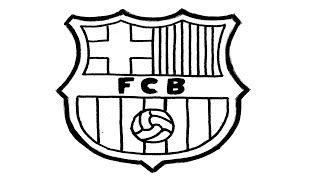 Resultado De Imagen De Dibujos De Futbol Para Colorear De Messi Simbolo Barcelona