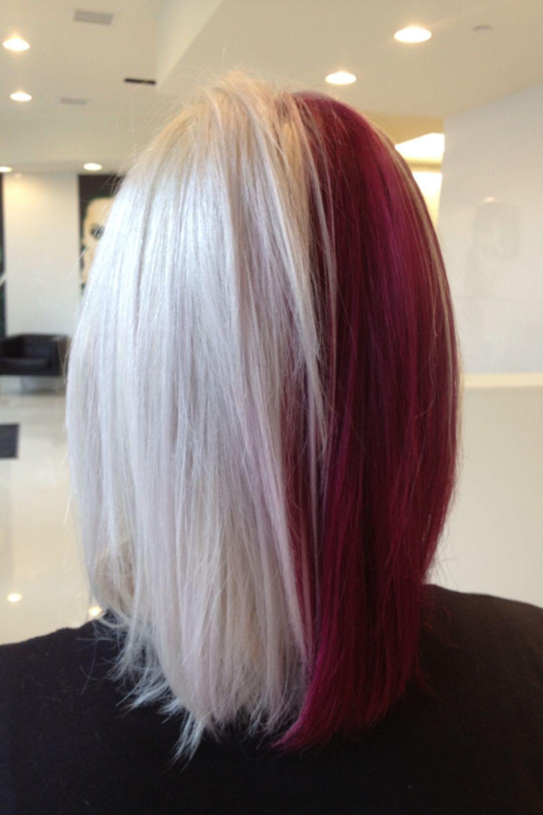 Half and half hair color hair coloring half dyed hair and dye hair