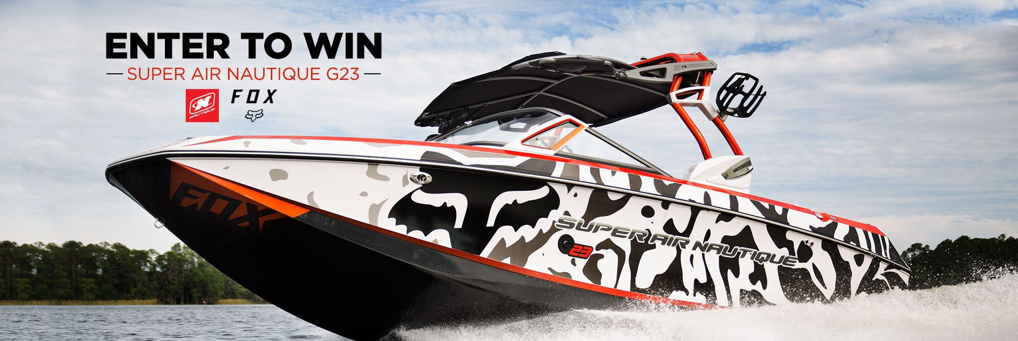 Win a custom boat on Fox Nautical Super Air Nautique G23