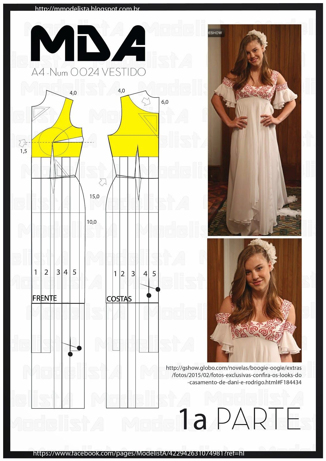 Maxi empire dress, pattern instructions | costuras | Costura ...