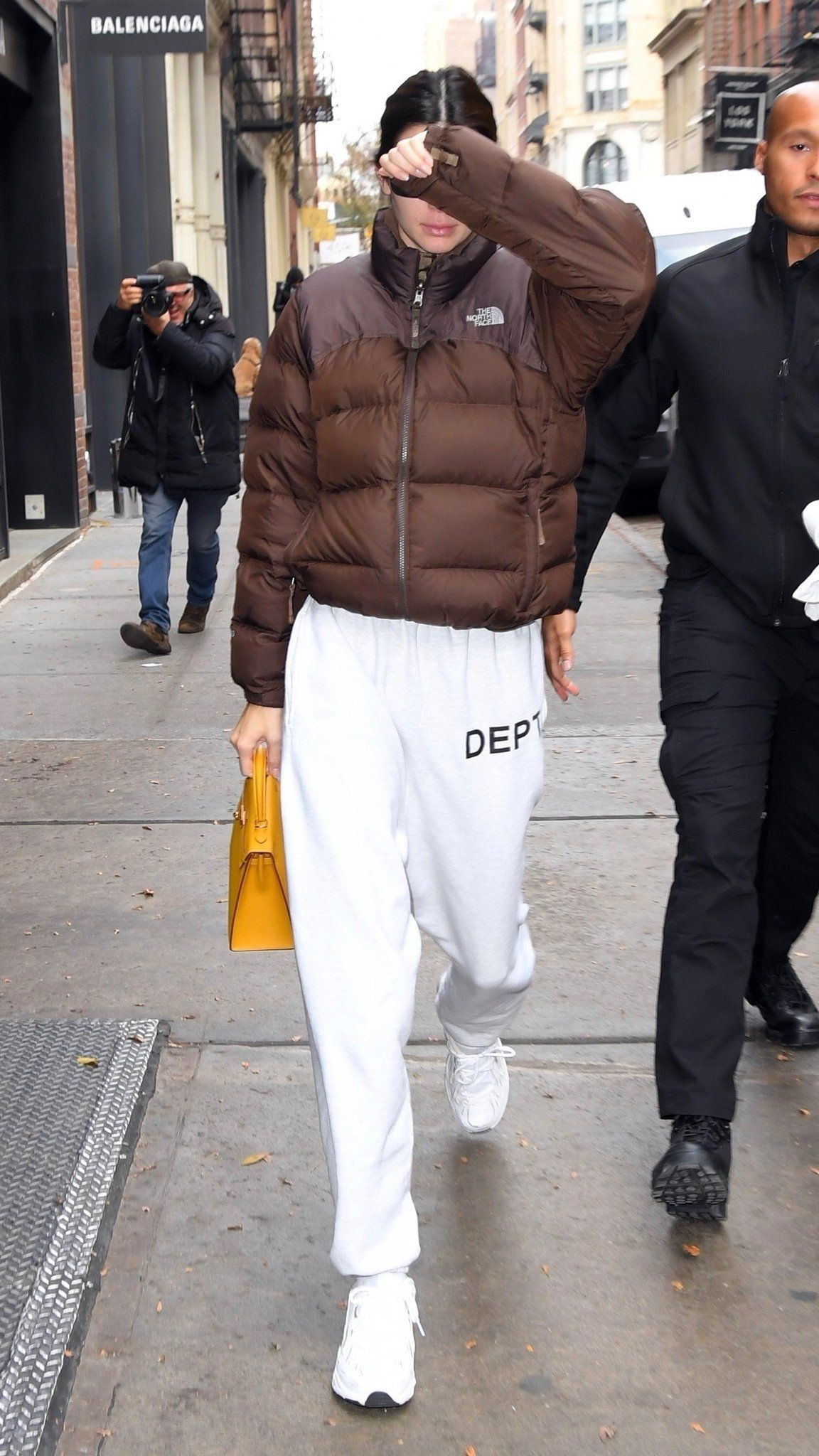 Kendall Jenner North Face Jacket Outfit North Face Puffer Jacket Brown North Face Jacket [ 2048 x 1152 Pixel ]