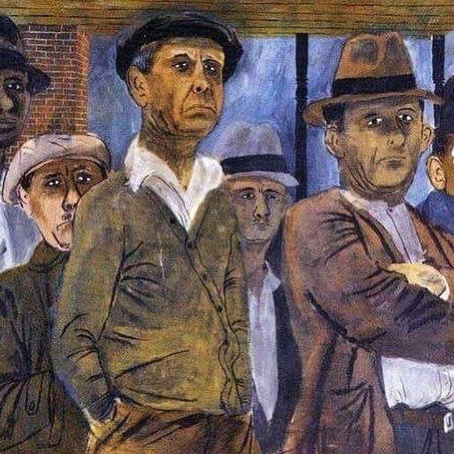 Ben Shahn (Lithuanian / American) painting - Unemployment (1938) #benshahn #art #artisfound #painting #unemployment