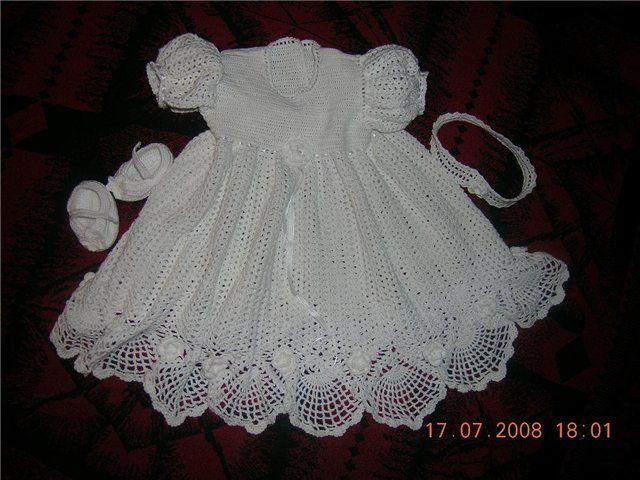 Master Class Christening Dress free crochet pattern | Crochet Baby ...