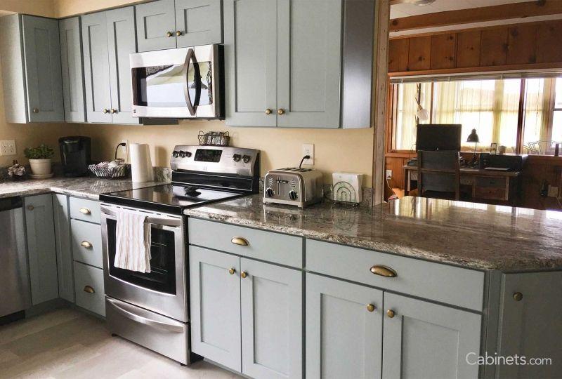 Deerfield Shaker Maple Haze Home Goods Decor Kitchen Remodel Black Appliances Kitchen