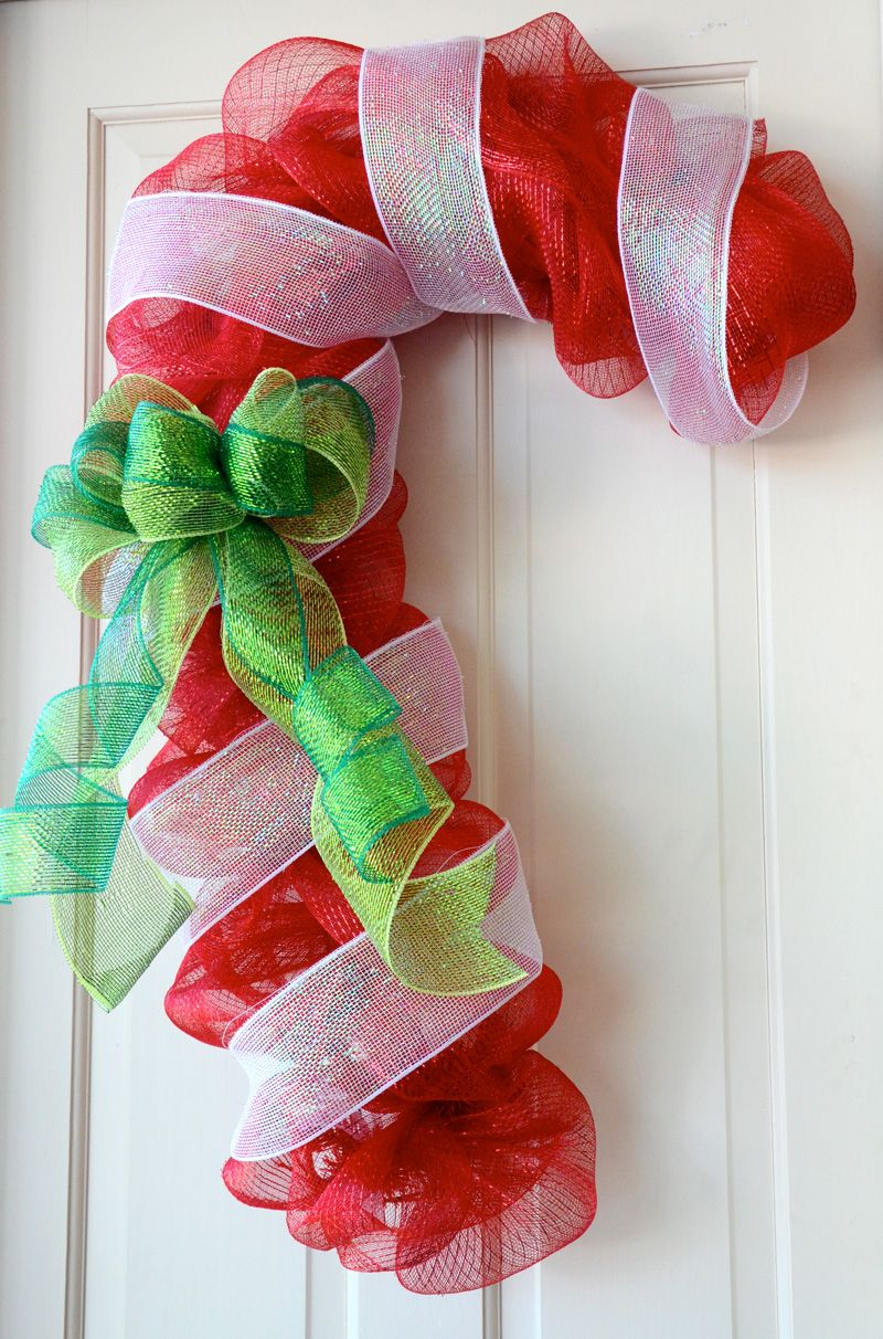 Candy Cane Decoration Ideas Candy Cane Decorating Ideas  Candy Cane Door Decoration With Deco