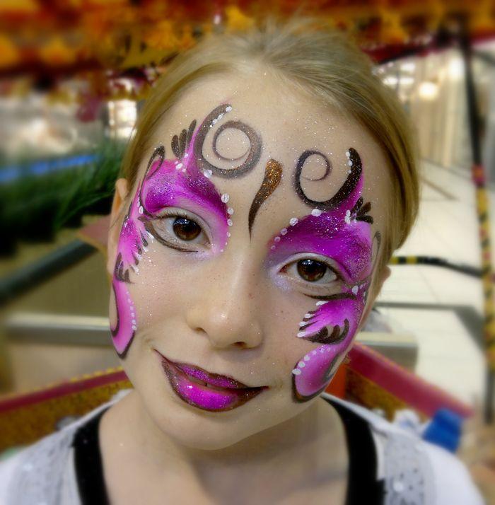 Animation maquillage enfant Noël Papillon violet