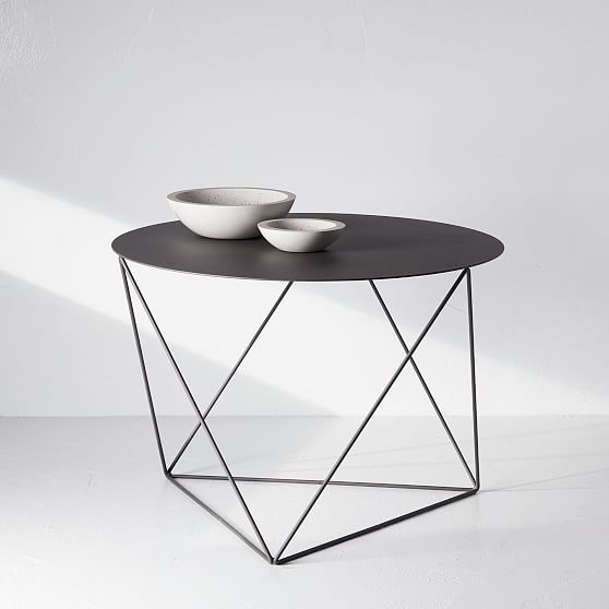 Best Eric Trine Octahedron Side Table Matte Gray Modern Side 400 x 300