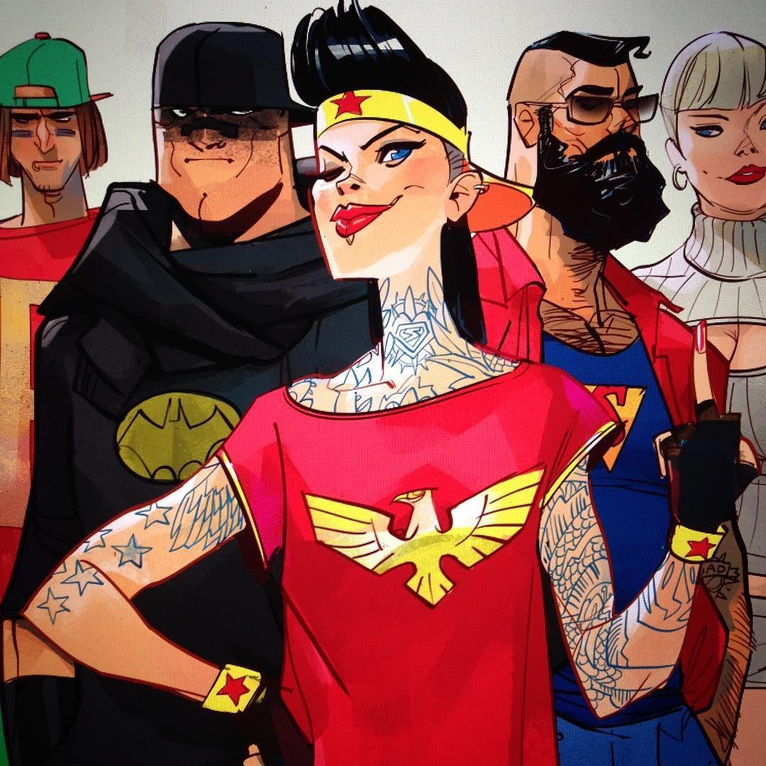 Evgenij Shmidt On Instagram Street Justice League Artbook Ottoschmidt Superheroes Fumetti Dccomics Otto Schmidt Graphic Novel Art Comic Illustration