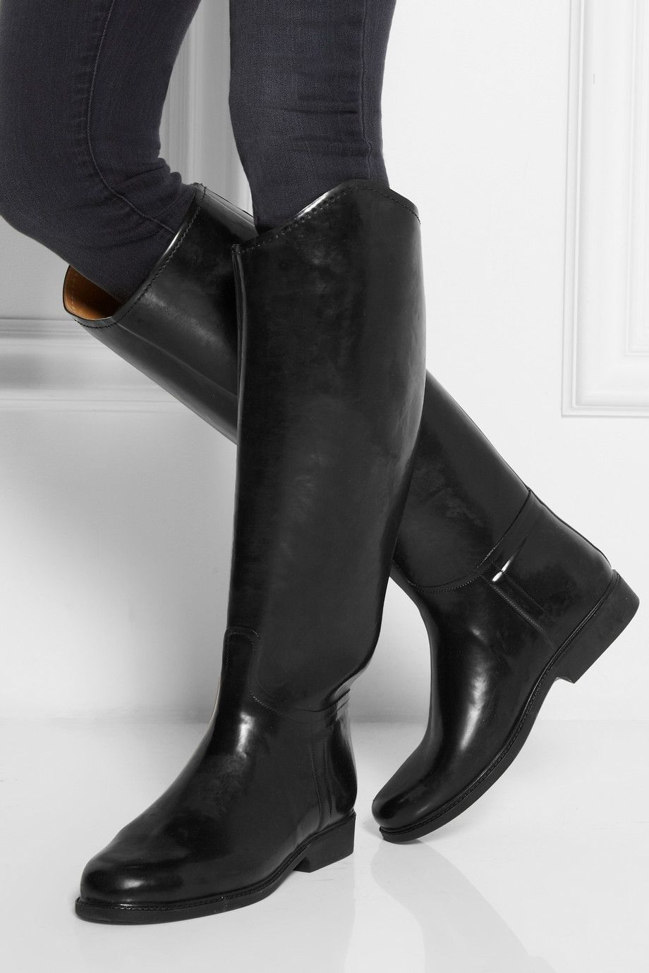 le chameau alezan leather lined rubber boots