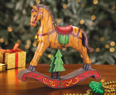 Christmas Rocking Horse From Collections Etc Rocking Horse Wood Rocking Horse Horse Christmas Ornament