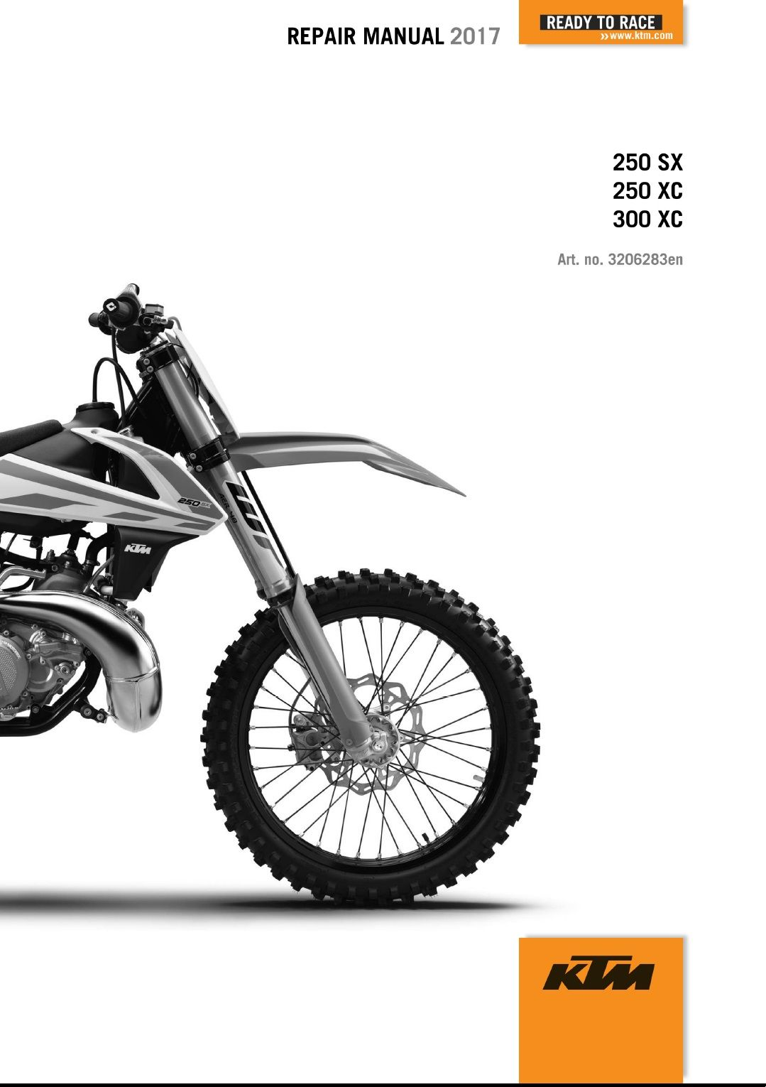 2017 KTM 250-300 SX XC Repair Manual 2017 KTM 250-300 SX XC
