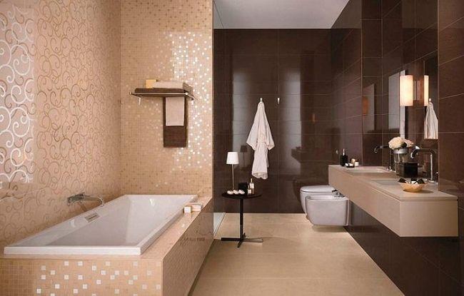 carrelage mural salle bains atlas concorde - 20 photos sympa ... - Carrelage Marron Salle De Bain