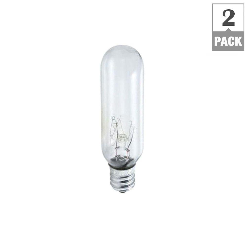 Philips 15 Watt Incandescent T6 Tubular Exit Light Bulb 2 Pack