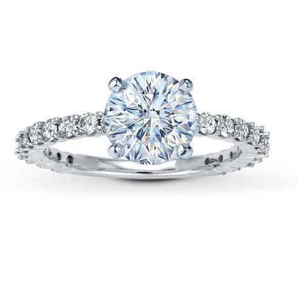diamond ring setting 34 ct tw round cut - Wedding Rings At Kay Jewelers
