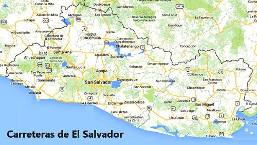 Pin En Mapa De El Salvador Con Sus Municipios Y Carreteras