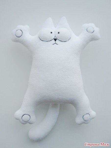Подушка-игрушка кот своими руками