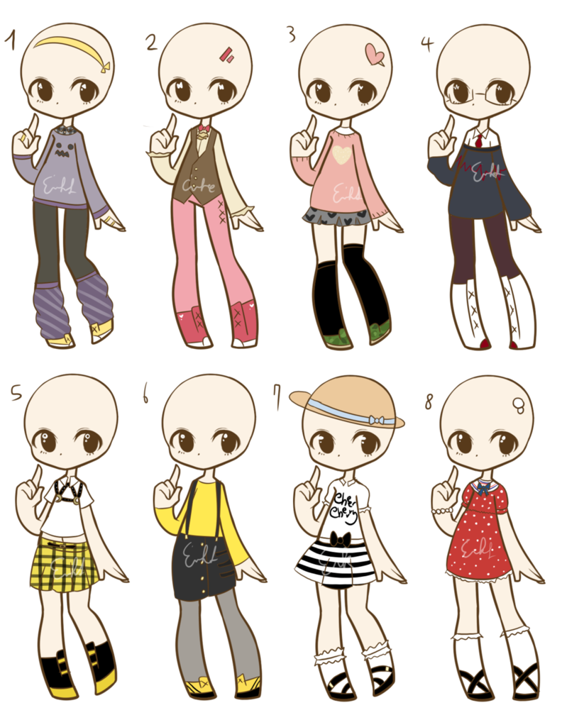 Outfit Adopts 3 :CLOSED: by LukasB-adopts.deviantart.com ...