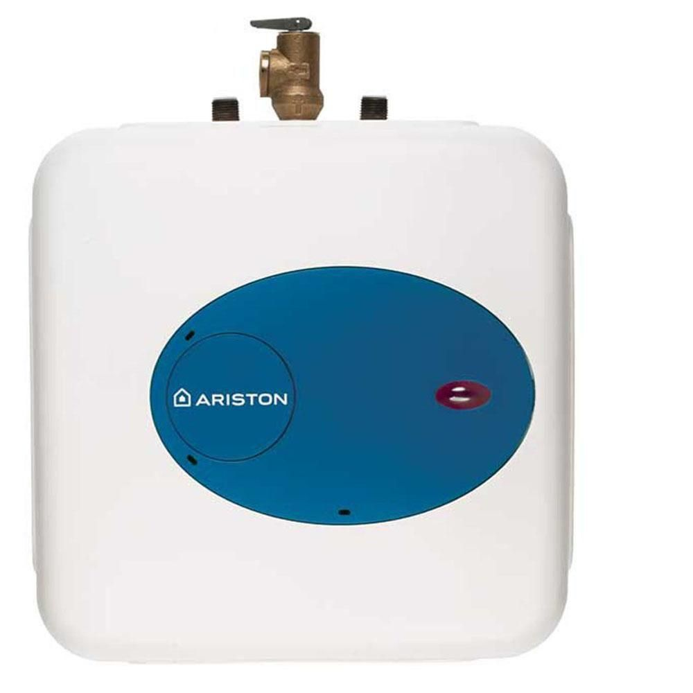 Ariston 4 0 Gal 6 Year 1500 Watt 120 Volt Point Of Use Mini Electric Water Heater Gl4 0 The Home Depot Electric Water Heater Water Heater Heater