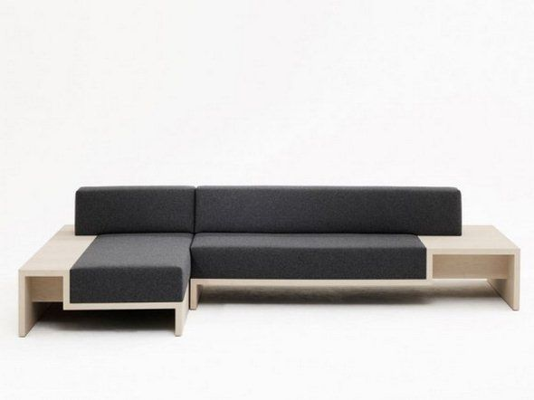 Brilliant Contemporary Wood Sofa Wooden Stanley By Matthew On Design