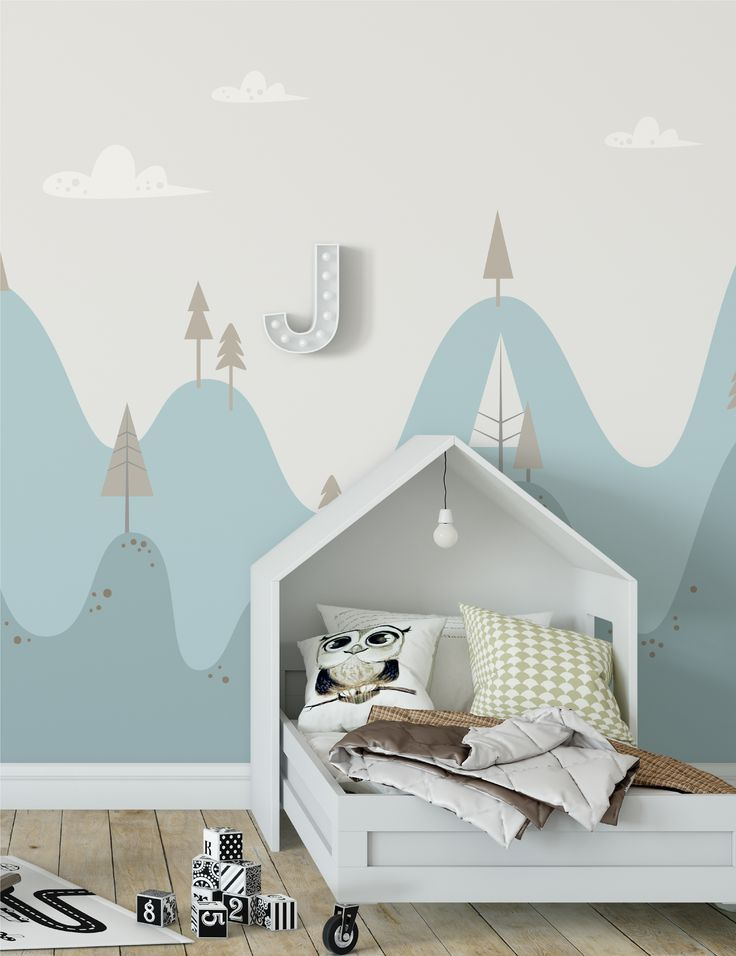Lumpy Hills Dreamtime - Handmade Children's Wallpaper/Mural