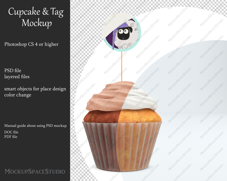 Download Cupcake Tag Mockup Tag Mockup Cake Mockup Paper Basket Etsy Mockup Psd Mockup Mockup Free Download