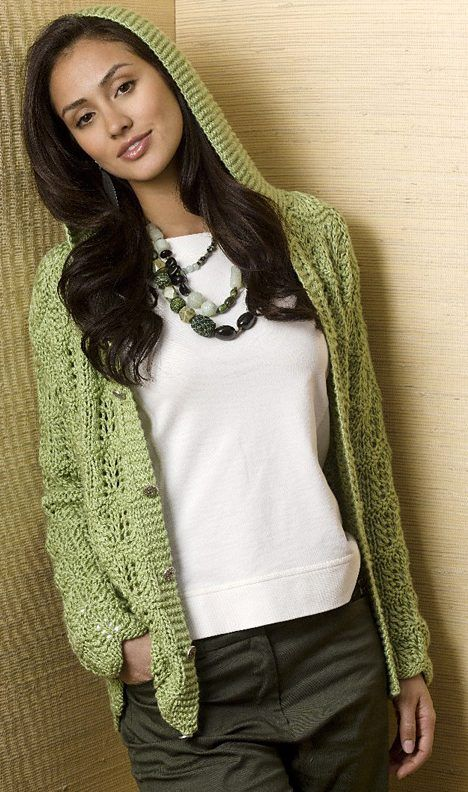 Free Knitting Pattern For Serenity Cardi Tanis Grays Hooded