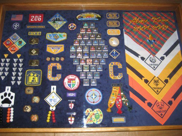 Cub Scouts Shadow boxes