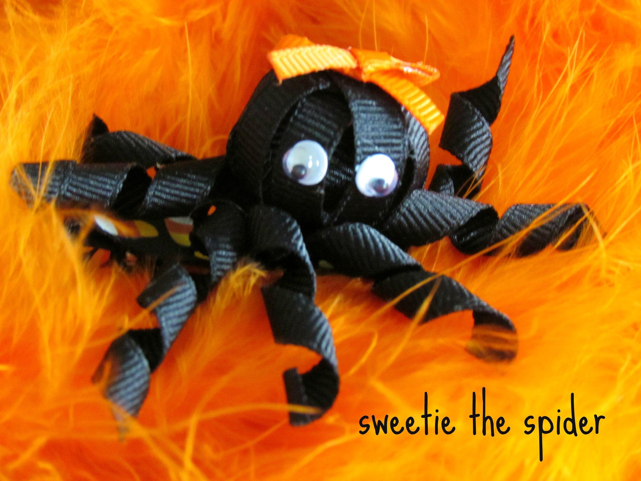 Spider bow Halloween wreath, Bows, Halloween