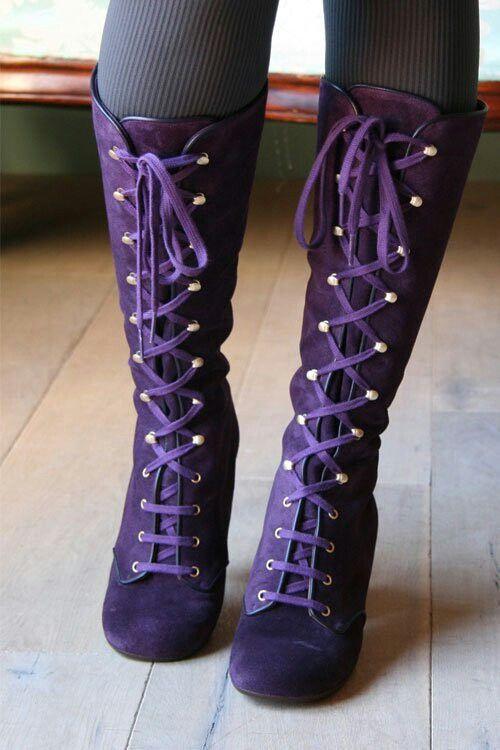 Purple granny boots   Granny boots