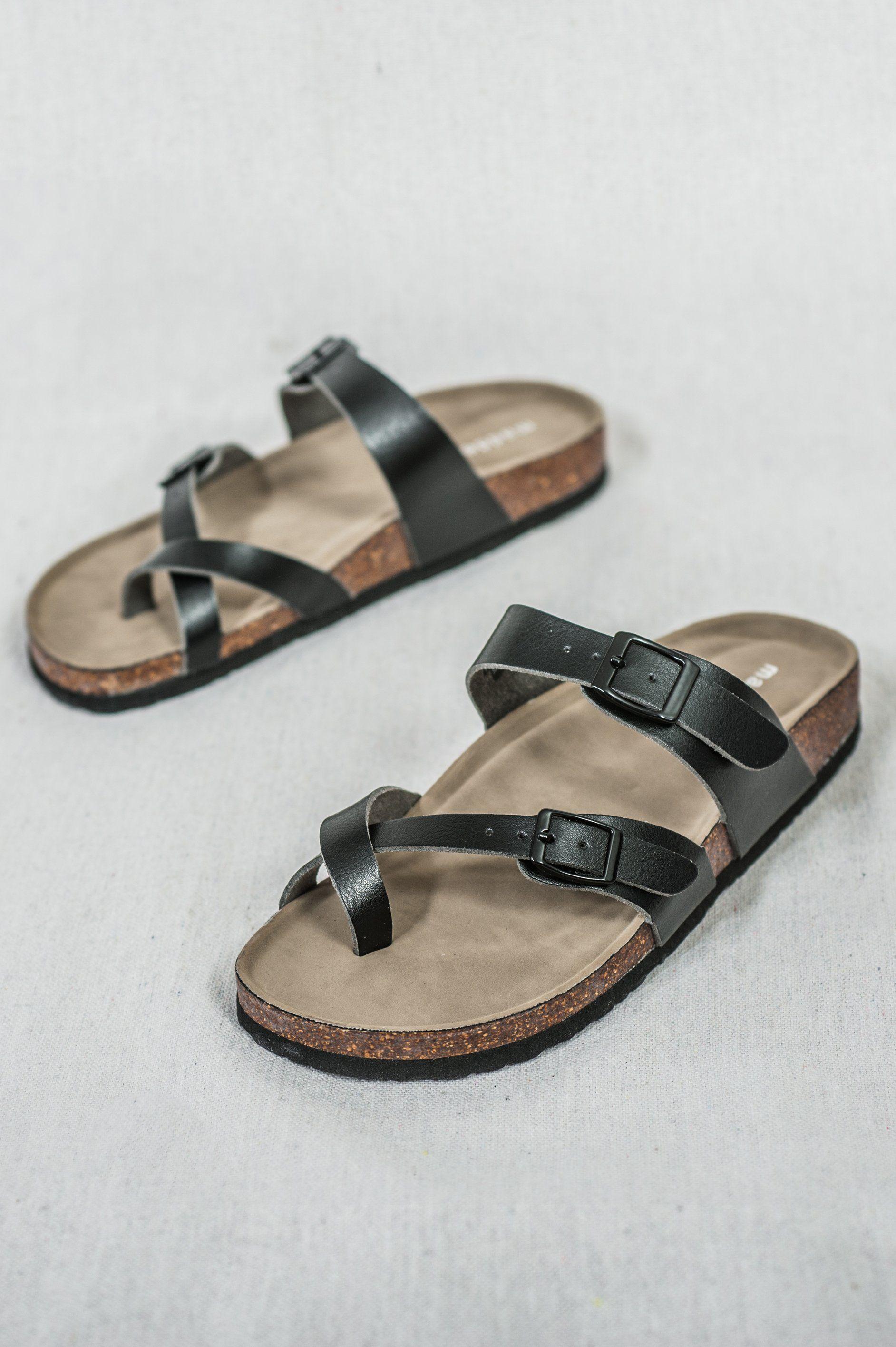 2371a0955 Madden Girl Black Birkenstock Style Sandal