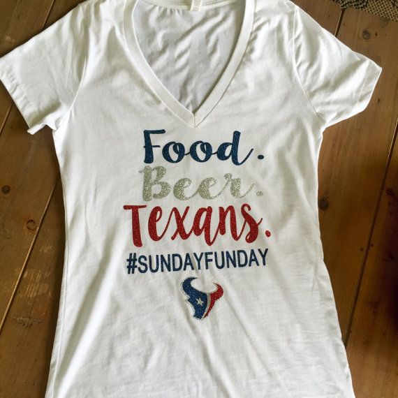 various colors ce776 4245f Houston Texans Shirt Food Beer Texans Sundayfunday by ...