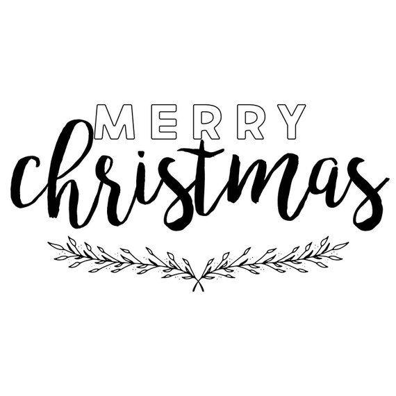 Merry Christmas SVG, Christmas SVG, Merry Christmas Cut File, Print, DXF, Modern Farmhouse, Cuttable, Digital Download, Cricut, Silhouette