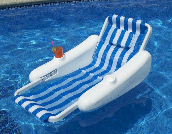 Swimline Sunchaser Sling Style Swimming Pool Floating Lounge Chair For Adults Floating Lounge Pool Floats Inflatable Pool Floats