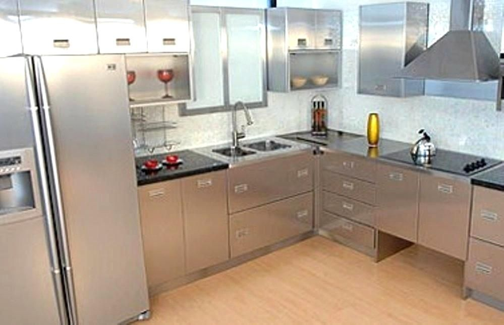 Furniture Stylish Stainless Steel Kitchen Cabinets Intended For Kitchens From Stainless Steel K Kitchen Cabinets Steel Kitchen Cabinets Metal Kitchen Cabinets