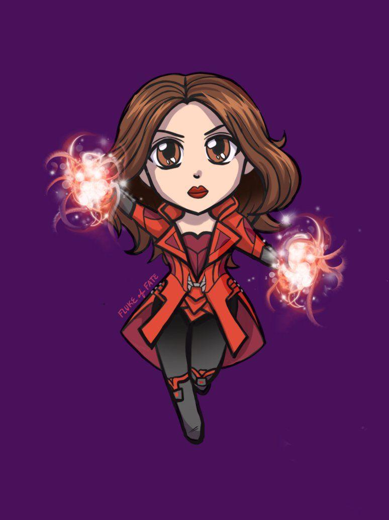 Scarlet Witch Chibi By Flukeoffate On Deviantart Marvel Scarlet