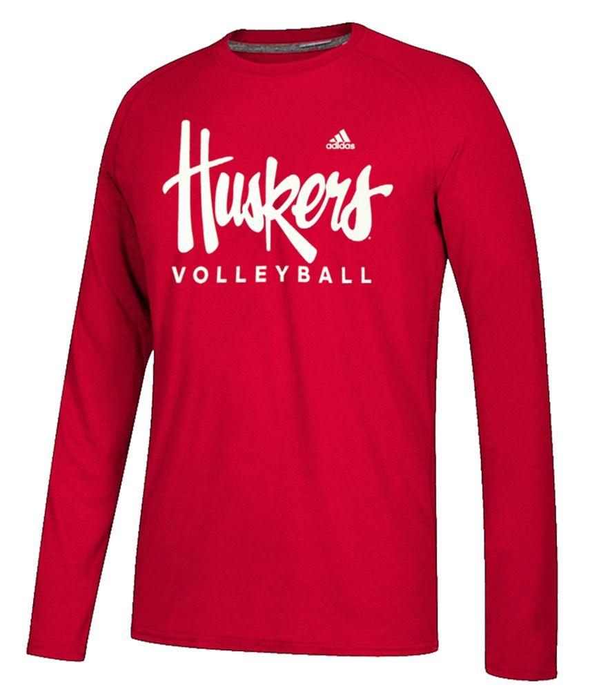 Adidas Huskers Volleyball Ls Tee In 2020 Long Sleeve Tshirt Men Volleyball Football Tees