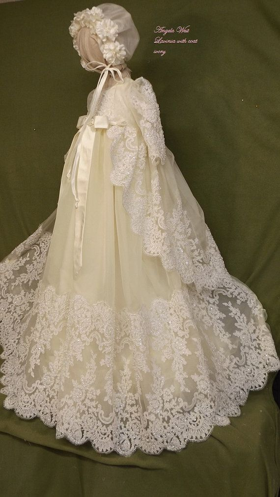 5e97d75ae2fca Angela West Christening gown set Lavinia with by angelawesthgowns ...