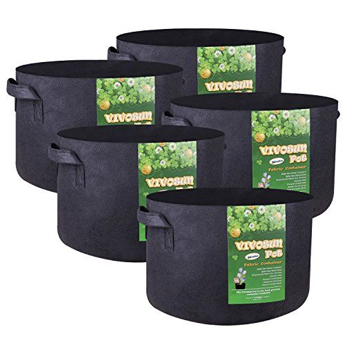 YUT Grow Bags 6-Pack 1 Gallon Plant Pots Heavy Duty Thickened Aeration Nonwoven FabricPots-Smart Pots Potato Planter with Durable Handles-for Garden Indoor Plants Black