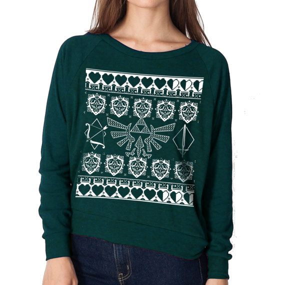 the legend of zelda ugly christmas sweater by pressthreads