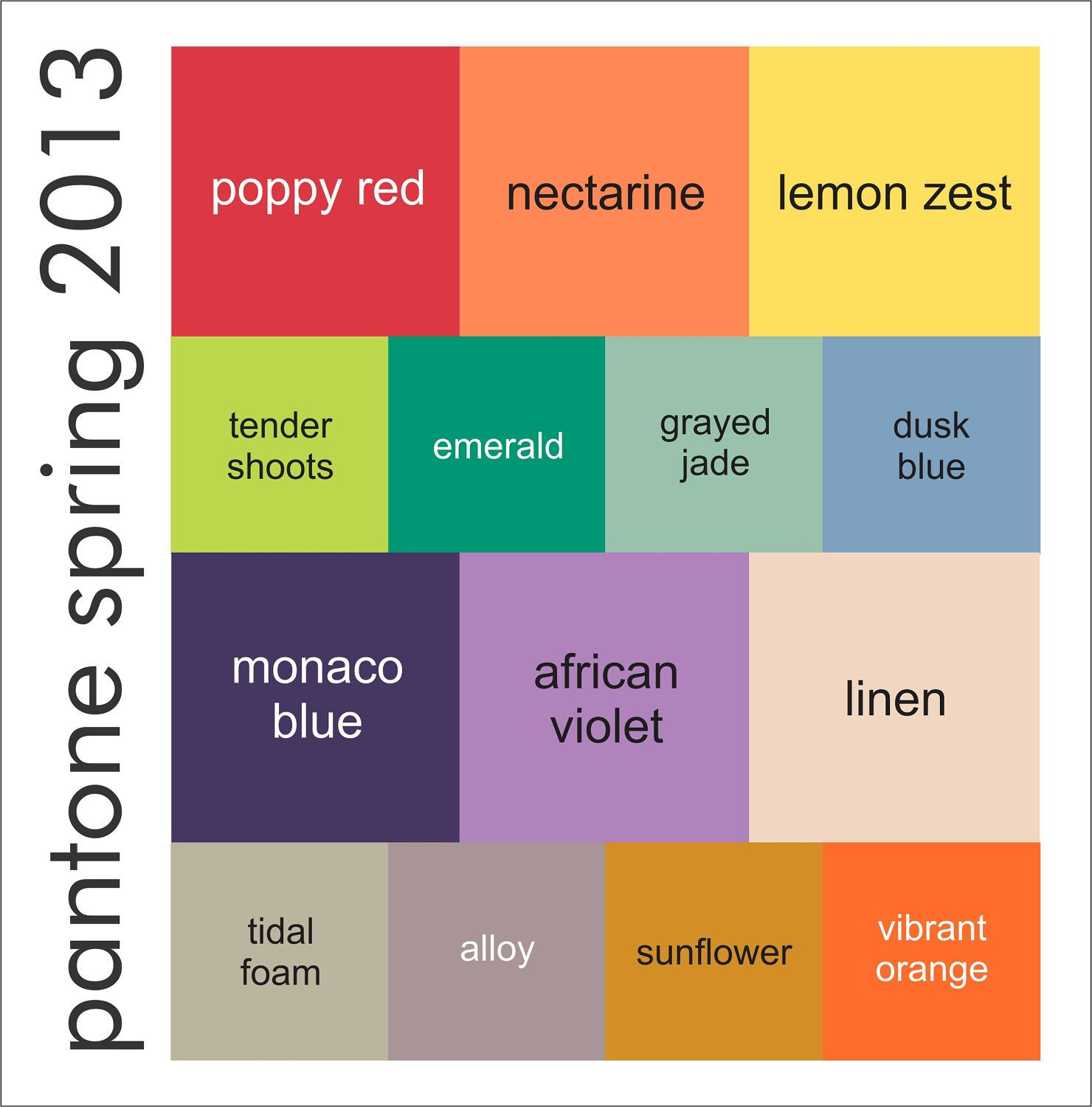 colors for spring 2013
