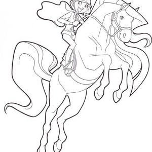 Bailey Handler And Aztec From Horseland Coloring Pages