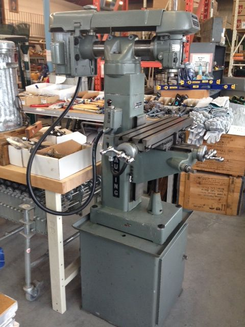 Excellent CLAUSING Vertical Mill - Single Phase with Vise