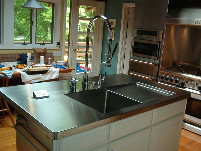 kitchen islands with stainless steel tops stainless steel countertop from alexandria va health 9476