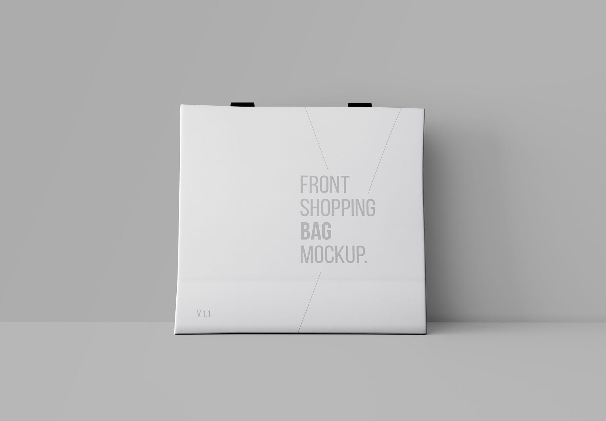 Download Free Front Shopping Bag Mockup Bag Mockup Design Mockup Free Mockup