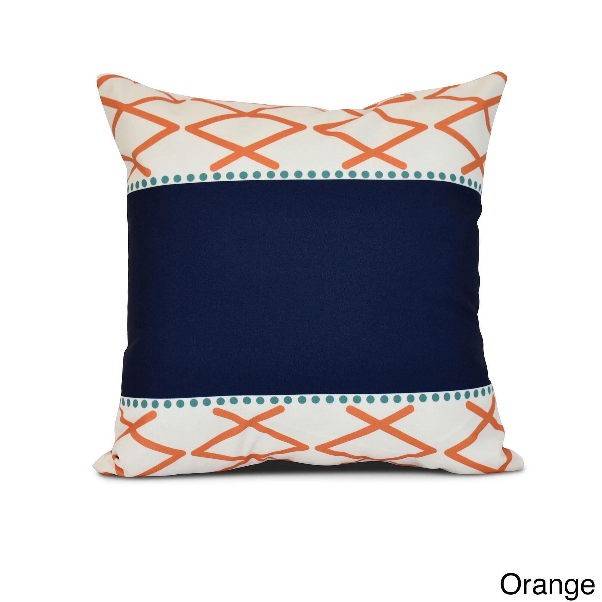 E by design knot fancy geometric print pillow x red outlet