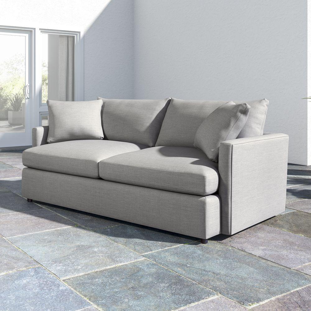 Lounge Ii Petite Outdoor Upholstered 83 Sofa Sofa Outdoor Sofa Crate Barrel