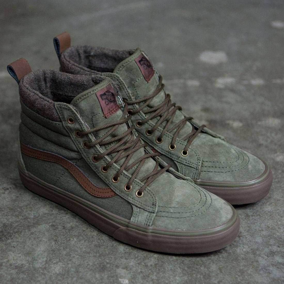 032b2d0fd422 Vans Men SK8-Hi MTE DX (green   dark gum)