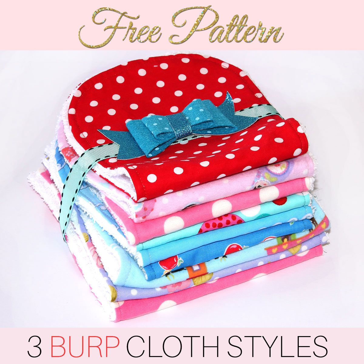 image relating to Pattern Printable named Burp Fabric Habit - Absolutely free Printable Practice for 3 Types