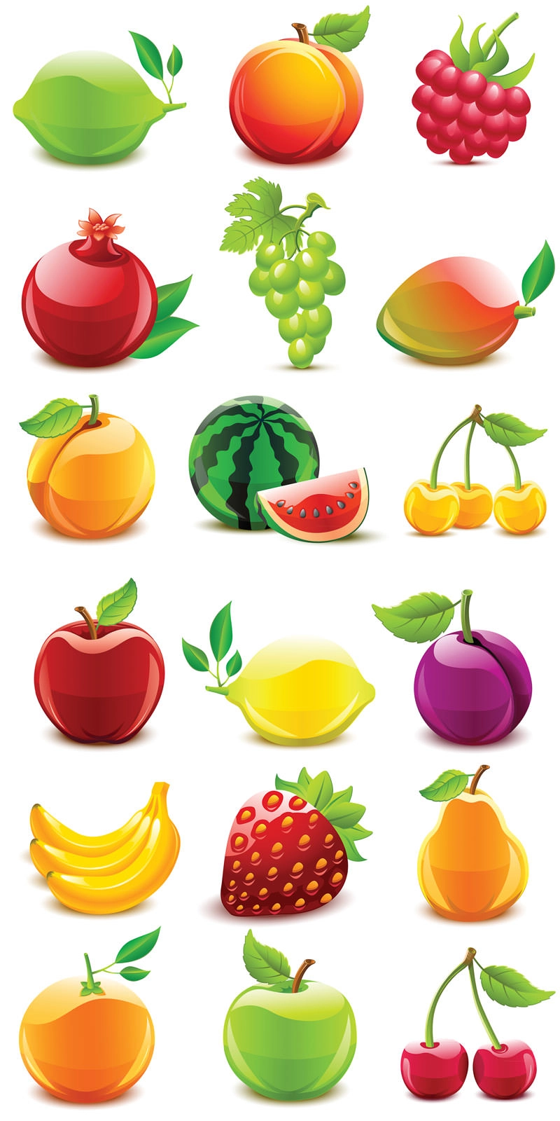 Download 50 Free Vector Fruits Vegetables Icons Fruit Icons Fruit Vector Fruit
