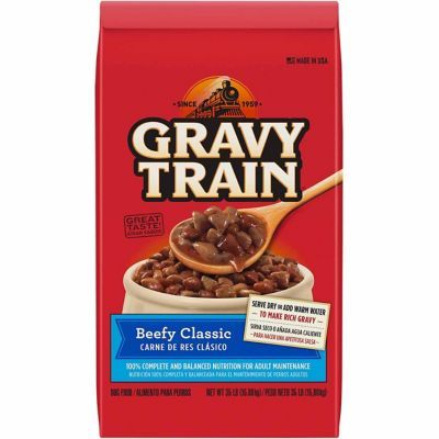 Gravy Train Beefy Classic Dry Dog Food 35 Lb Dog Food Recipes